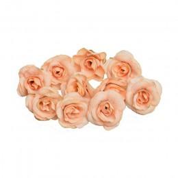 Nuevo 10 Uds flor artificial 4cm seda Rosa flor cabeza boda Navidad hogar guirnalda de bricolaje decoración álbum de recortes ca