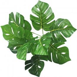 Plantas Artificiales Verde Tortuga hojas Jardín Decoración del Hogar 1 Ramo Mexicano otoño Hierba