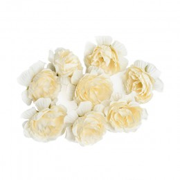 10 unids/lote flor artificial 5cm flor de Rosa de seda cabeza de la boda Fiesta de la boda guirnalda de bricolaje decoración álb