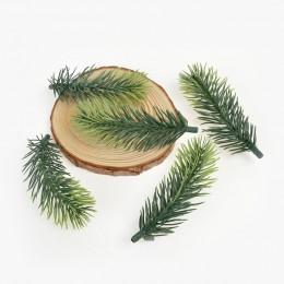 10 Uds aguja de pino artificial Planta artificial flor rama artificial para la decoración del árbol de Navidad accesorios DIY ra