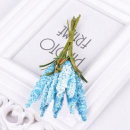 10 unids/lote Mini flores artificiales de lavanda PE para la decoración del hogar de la boda artesanía de regalo DIY corona de n