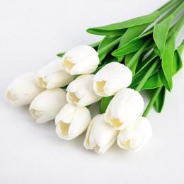 1 Uds flores artificiales tulipanes tacto Real artificiales para decora ramo de flores para el regalo del hogar flores decorativ
