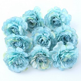 10 unids/lote flor Artificial 5CM cabeza de rosa de Primavera de seda para fiesta de boda guirnalda de bricolaje decoración caja