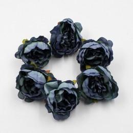 5 unids/lote 5cm de alta calidad cabeza de peonía flores artificiales de seda decoración para el hogar DIY guirnalda decoracione