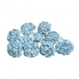 10 unids/lote flor artificial de seda cabeza de flor de hortensia para boda fiesta hogar guirnalda de bricolaje decoración caja