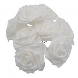 10 cabezas 8CM flores artificiales encantadoras PE espuma Rosa Flores novia ramo hogar boda decoración Scrapbooking DIY suminist