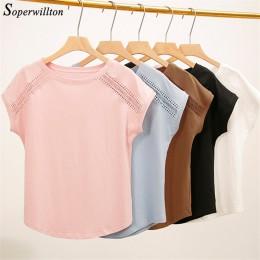 Blusas de verano de algodón encaje Batwing manga camisas para mujer Camisetas de talla grande ropa de mujer coreana 2019 Blusas