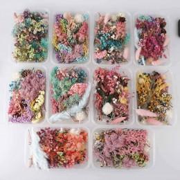 1 caja de Plantas secas de flores secas reales para vela de aromaterapia colgante de resina epoxi collar fabricación de joyas ac