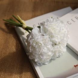 Flores artificiales peonía ramo para la boda decoración 5 cabezas peonías flores falsas decoración del hogar hortensias de seda