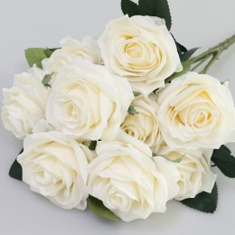1 manojo de seda Artificial Rosa francesa ramo de Flores falsas arreglo de mesa Margarita boda Flores decoración fiesta accesori