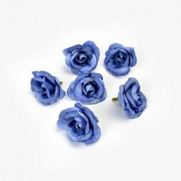 10 Uds. 4cm flor artificial de seda Rosa cabeza de la flor boda hogar fiesta decoración DIY flor pared álbum de recortes caja de