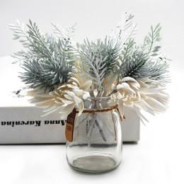 1 Uds. Flores artificiales, césped de pino, decoración de fiesta de boda, libro de manualidades artesanales de alta calidad, flo