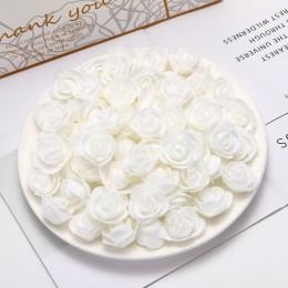 50 Uds. mini flores artificiales de PE baratas para el hogar Accesorios para decoración de boda falso foma bears álbum de recort