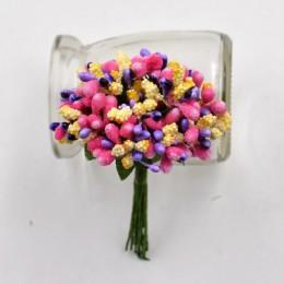 12 unids/lote de artesanías flores artificiales estampan azúcar boda fiesta guirnalda de bricolaje decoración caja de regalo Scr