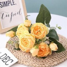 30cm rosa peonía de seda artificial flores PE espuma Rosa Flores novia ramo hogar boda decoración Scrapbooking DIY suministros