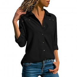 Blusas para mujer 2019 primavera elegante pura manga larga blusa Camisa cuello vuelto gasa blusa Oficina Camisas Blusas