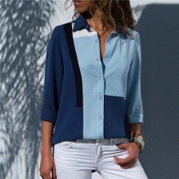 Blusas de mujer 2019 moda manga larga cuello vuelto camisa de oficina blusa de ocio camisa Casual Blusas de talla grande Blusas
