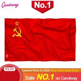 Bandera Roja CCCP 90x150mm bandera de la Unión de las Republicas sociales rusas 3x5 pies superpoli interior/exterior bandera de