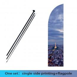 Banderas y banderines bandera de la pluma de la playa y bandera con la celebración de la promoción de la impresión personalizada