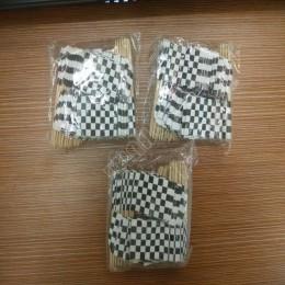 Mini Bandera de carreras 50 Uds palillos de comida de papel cena palillos para pasteles Cupcake Toppers decoración fruta Cocktai