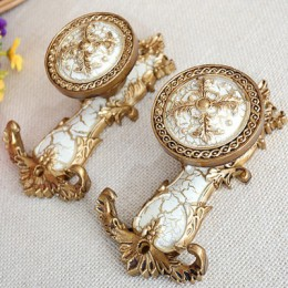 2 unids/set de alta calidad de lujo de moda europea ganchos de cortina soporte percha de bronce estante de exhibición accesorios