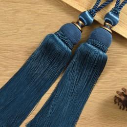 QGVLish 2 unids/par cepillo de cortina Tiebacks borla flecos cinturón colgante bolas accesorios de cortina Holderback Tie Backs
