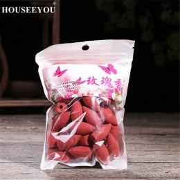 45 unids/bolsa 7 tipos de conos de incienso de reflujo de fragancia huecos aromaterapia quemador de rosas fragantes Perfume de i