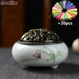 Bobina creativa quemadores de incensario decoración del hogar quemador de cerámica con cubierta de cobre Buda sándalo titular de