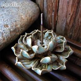 Sostenedor de incienso de loto hecho a mano titular de incienso de sándalo de cerámica Hogar Casa de Té decoración de oficina in