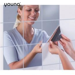 Hojas de espejo decorativas Flexible no espejo de vidrio espejo de plástico autoadhesivo azulejos espejo pegatinas de pared calc