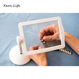 Nuevo 1 pc 19,5*14,5*15 cm pantalla LED ajustable lupa página más brillante pantalla de lectura manos- gratis con luz en blanco