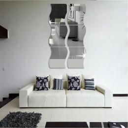 6 uds. Espejo 3D pegatina de pared extraíble calcomanía decoración del hogar pegatinas extraíbles espejo de pared decorativo de