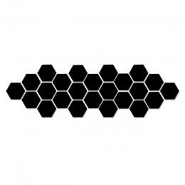 Caliente 12 Uds pegatinas de pared de espejo acrílico Auto adhesivo extraíble Hexagonal decorativo hoja de espejo para la decora