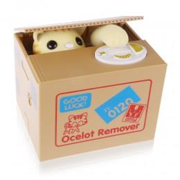 Gato hucha Panda cajas de dinero de juguete hucha regalo niños cajas de dinero automático hucha caja de ahorro de dinero regalo