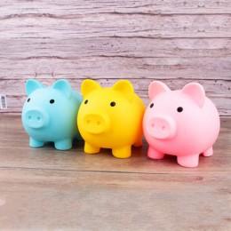Caja de ahorro de dinero hucha hogar Decoración niños juguetes cajas de dinero dibujos animados cerdo en forma de regalo de cump