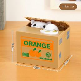 Hucha de gato caja de monedas depósito de perro caja de seguridad de ahorro de dinero caja de seguridad electrónica de plástico