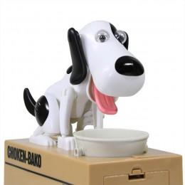 Eworld Robotic Hungry comer perro Banco Canino dinero caja dinero Banco automático robo moneda hucha dinero Caja de Ahorro regal