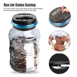 Banco contra la moneda caja electrónica Digital LCD contando dinero moneda Caja de Ahorro de frasco para USD EURO GBP dinero