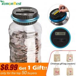 Digital electrónico LCD recuento de monedas y ahorro de dinero caja jarra alcancía Contador monedas caja de almacenamiento para