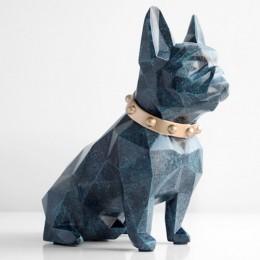 Lindo banco de monedas caja resina perro estatuilla hogar decoraciones estuche de almacenamiento de monedas sostenedor juguete n