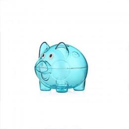 Nuevo plástico transparente caja de ahorro de dinero monedas hucha dibujos animados en forma de cerdo