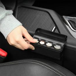 Caja de la moneda del Interior del coche caja de almacenamiento del sostenedor de La Moneda negro caja de la moneda del Euro del