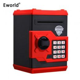 Nueva hucha de Eworld, Mini caja de dinero para cajero automático, contraseña electrónica de seguridad, máquina de depósito de d
