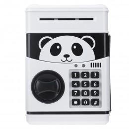 Panda hucha electrónica ATM contraseña caja de dinero para ahorrar monedas caja fuerte de Banco depósito automático billete rega