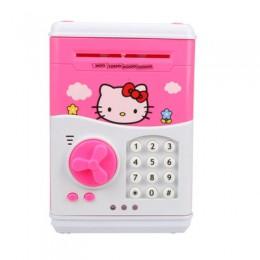 Kitty Large Piggy Bank Password ATM Bank alcancia Money Saving Box face Safe hucha Smart Voice Money Piggy Box Cat Coin Bank
