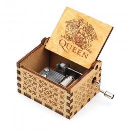 Caja de música de mano de madera reina Bohemia Rhapsody caja de música Juego de tronos te regalo Eres mi sol