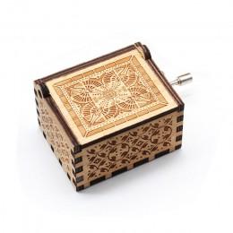 Nueva caja de música Reina amor Papá y mamá amor mi sol tema música de madera envejecida tallada mano manivela Mamá y Papá regal
