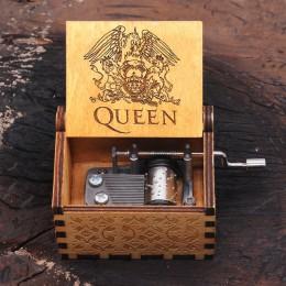 Caja de música de reina de manivela de mano de madera caliente Bohemian Rhapsody tema Juego de tronos Digimon La Bella y La Best
