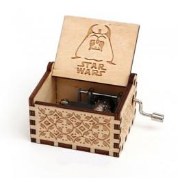 Caja de música tallada de madera de las compras de la gota caja Musical de mano caja de música del tema de Potter Regalo de Cump