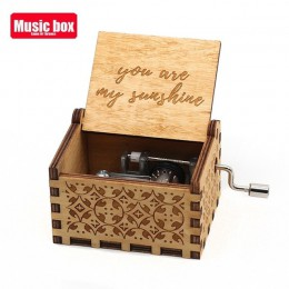 Nueva caja de música de madera de La vida En Rose regalos de cumpleaños para niños fiesta de Star Wars Juego de tronos regalo de